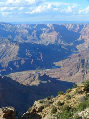 Les profondeurs du Grand Canyon