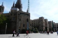 Place de la cathédrale dans le Gotico