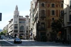 Via Laietana entre les quartiers du Gotico et du Born
