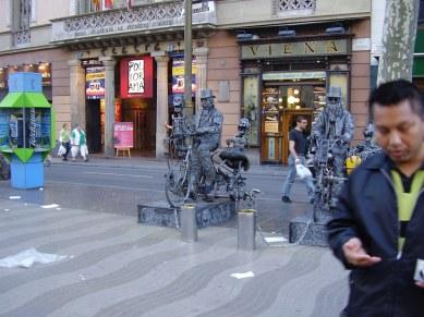 Statues humaines sur las Ramblas